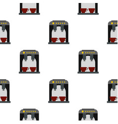 Coffee machine pattern seamless vector