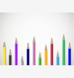 color pencils art banner poster with place for vector image