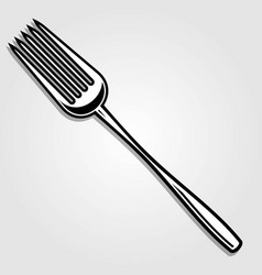 cutlery fork isolated on white background vector image