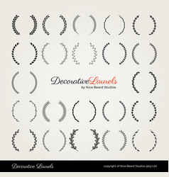 Decorative laurels by nice beard studios vector