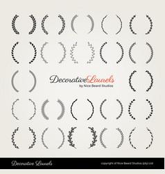 Decorative laurels nice beard studios vector
