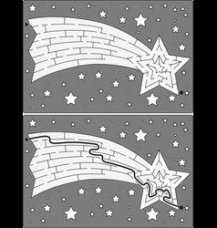 easy shooting star maze vector image