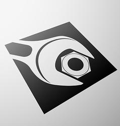 Emblem of construction vector image