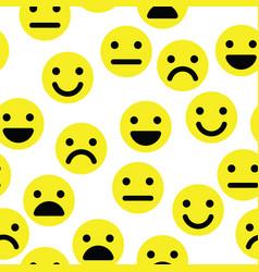 Emoji seamless pattern background simple yellow vector