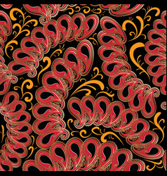 ethnic style paisley seamless pattern ornamental vector image