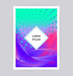 fluid liquid shapes composition wavy geometric vector image
