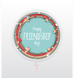 Friendship day greeting card paper art vector