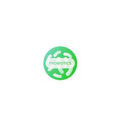 green probiotics bacteria logo flora icon vector image