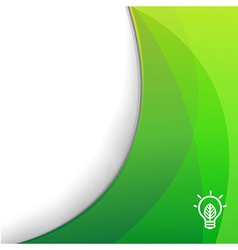 Green Wallpaper With Eco Lamp Symbol vector