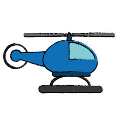 Helicopter transport flight icon vector