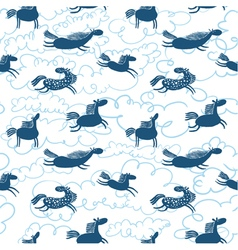 Horses seamless pattern vector