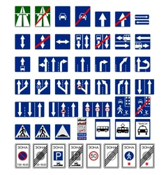 Informative signs vector image