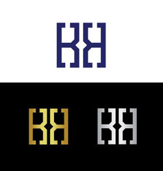 Initials with reflected letter K vector