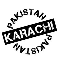 Karachi typographic stamp vector