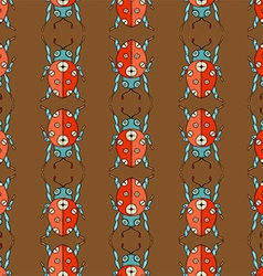 Ladybug Patterned Background vector image