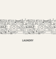 Laundry banner concept vector