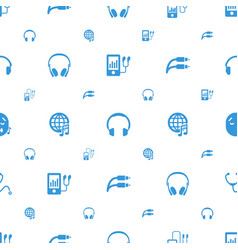 Listen icons pattern seamless white background vector