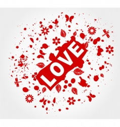 love abstraction vector image
