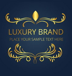 Luxury brand gold logo template modern design vect vector