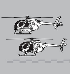 md helicopters mh-6 little bird vector image