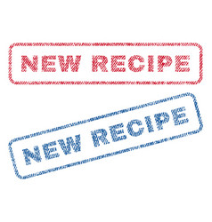 new recipe textile stamps vector image