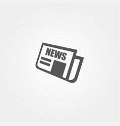 news icon in flat style grey color vector image