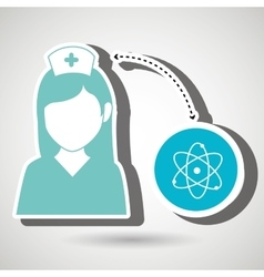 Nurse and molecular isolated icon design vector