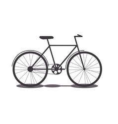 object transport bike silhouette vector image