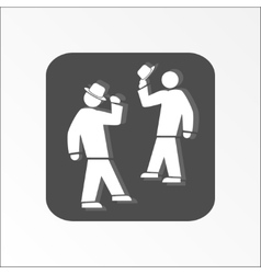 Office web icon Hat take off Meeting and vector
