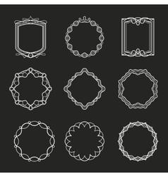 Outline frames vector image