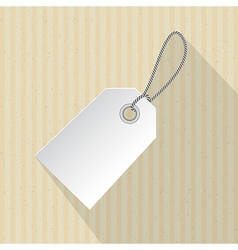 Paper Label Tag with String on Cardboard vector