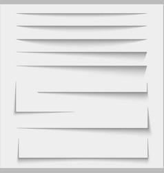 Paper sheet shadow effect vector
