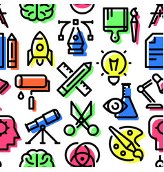 pattern of creativity icons vector image