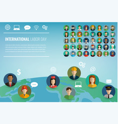 people of different occupations professions set vector image
