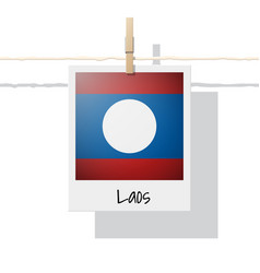 Photo of laos flag on white background vector