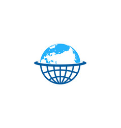 planet globe logo icon design vector image