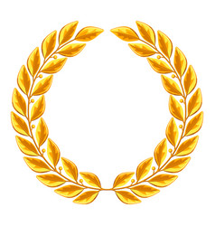 Realistic gold laurel wreath for vector