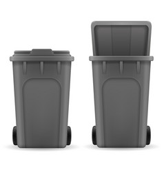 recycling bin trash bucket stock vector image
