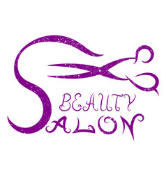 Scissors for beauty salon vector