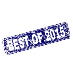 Scratched best of 2015 framed rounded rectangle vector
