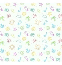 Seamless pattern background for summer vector