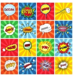 Set of comic sound effects vector