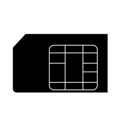 Sim card the black color icon vector