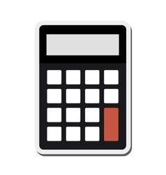 Single calculator icon vector
