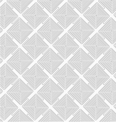 Slim gray square diagonally connecting spirals vector image