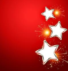 Sparkling stars vector