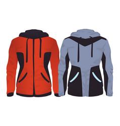 Sport fitness jackets vector