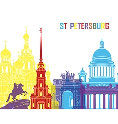 St Petersburg skyline pop vector