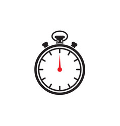 stopwatch icon design template isolated vector image