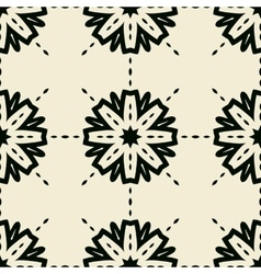 Stylized abstract seamless tiled wallpaper vector image